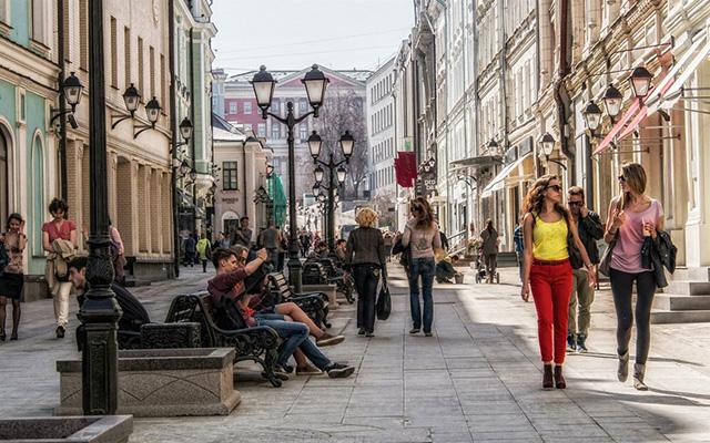 Столешников улицата во Москва.