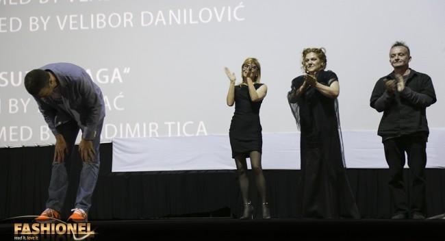 на премиерата во кино Милениум