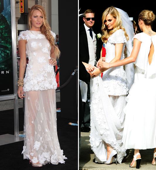 Во 2011, актерката Блејк Лајвли носеше сличен фустан од колекцијата 2009 на модната куќа