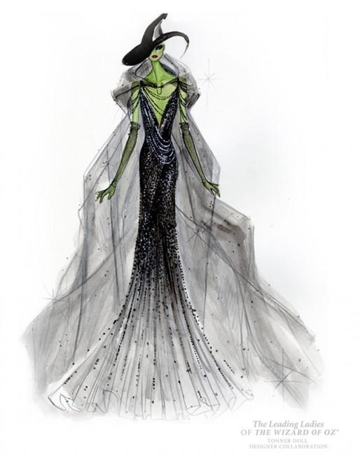 Дона Каран, скица за ликот на лошата вештерка од Западот