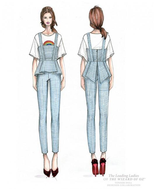 Трина Турк, скица за ликот на Дороти