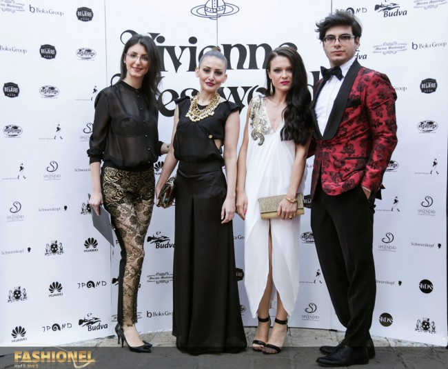 Претставници од Fashionel и Елена Лука. Женскиот дел од тимот во креации на Елена Лука