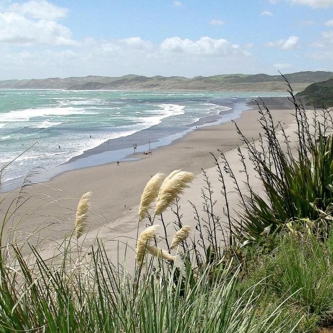Нгарунуи плажата во Нов Зеланд