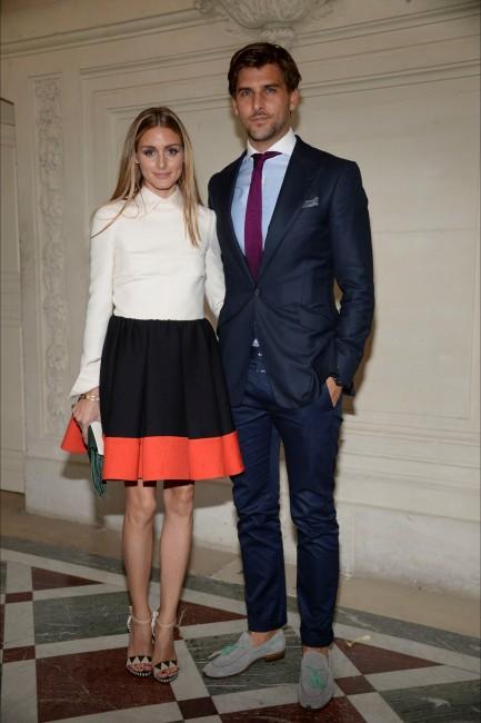 модно шоу на Валентино: Оливија Палермо и Јоханес Хуебл