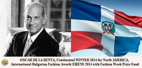 Оскар де ла Рента - најдобар дизајнер за Северна Америка
