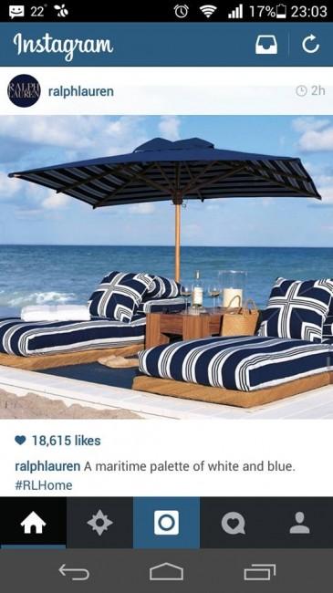 Вака се ужива на плажа според принципите на Ралф Лорен