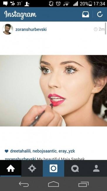 На профилот на шминкерот Зоран Шурбевски е објавена фотографија со преубавата Маја Сашек