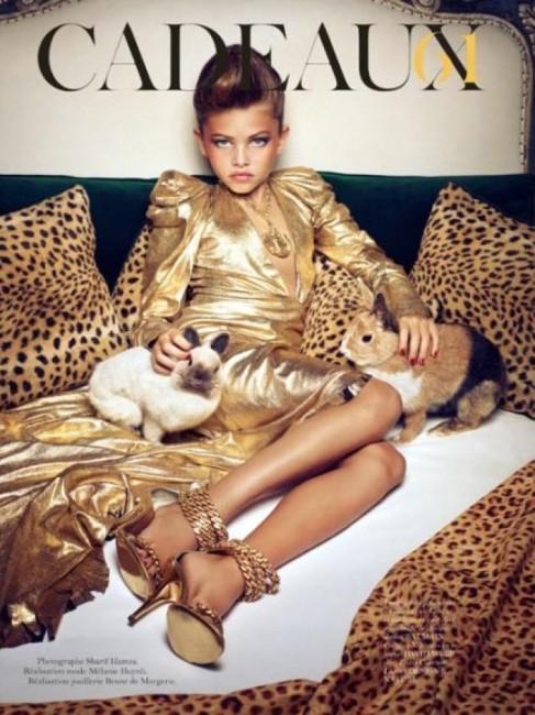 10 годишната Thylane Blondeau во контроверзна фотосесија за Vogue Paris