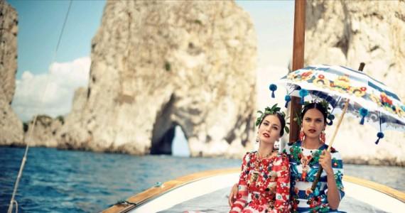 Магичната песна на морето опеана низ моделите на Долче и Габана во совршениот Капри