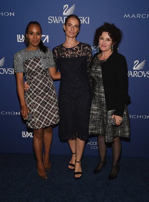 Актерката Кери Вашингтон, ПР директорката во Прада и Миу Миу Верде Висконти и дизајнерката Лин Паоло