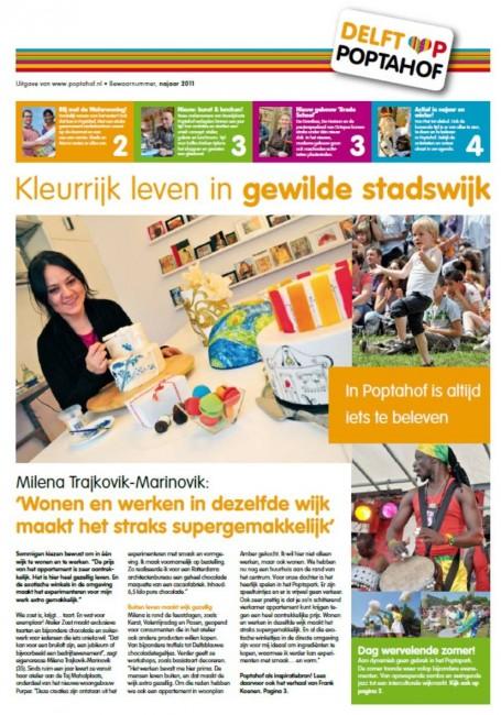 текст за Милена Трајковиќ во холандски весник