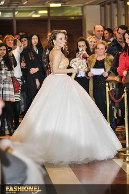 Ивана Илиевска во венчаница од МCouture