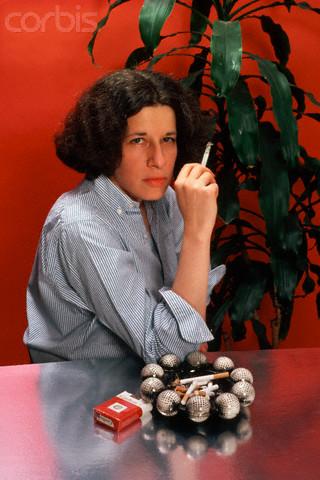 Fran Lebowitz Holding Cigarette