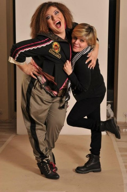 Дел од фотосесијата за соработката на Мијата со модната куќа Елена Лука